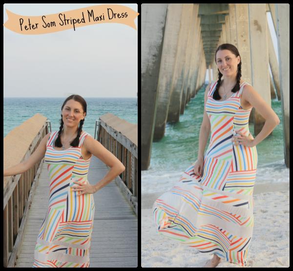 Peter Som Striped Maxi Dress