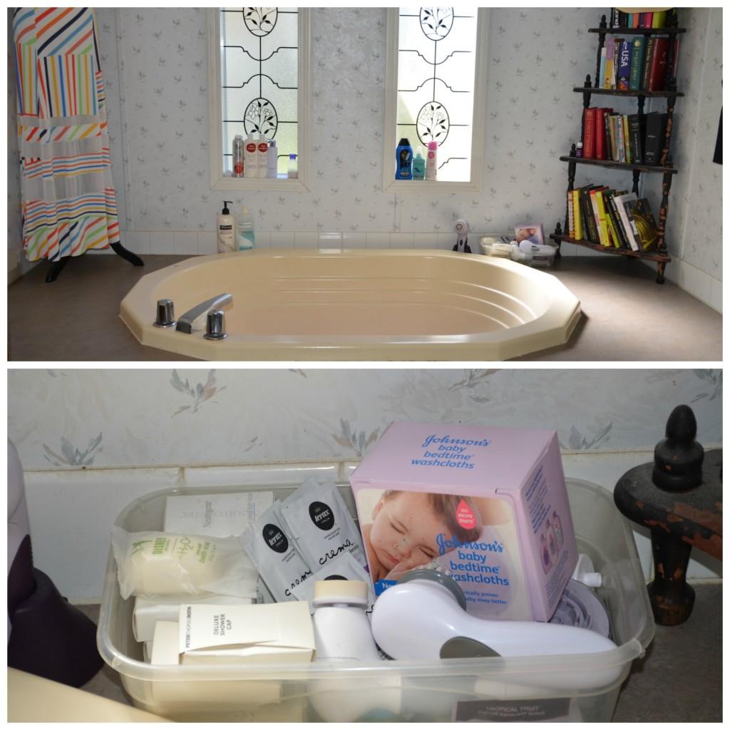 relaxing bath area